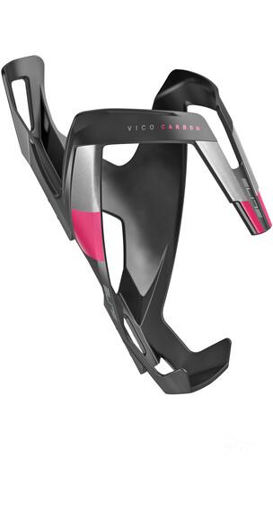 Elite Vico Carbon Flaschenhalter schwarz matt/pinke Grafik